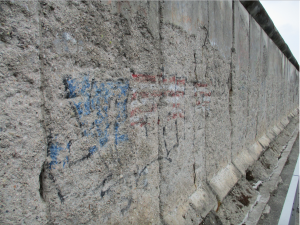 One of the remaining sections of the Berlin Wall.