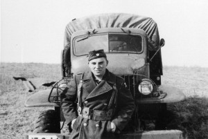 My grandfather, SSG Joseph Smith, with the Army Truck he drove during the war.