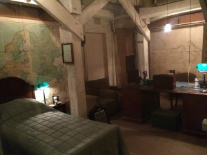 Winston Churchill's rarely used bedroom  in the War Rooms.