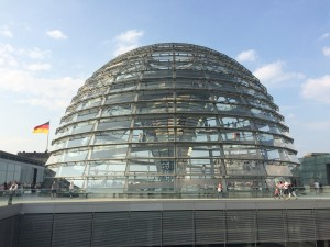 The glass dome that sits on top of the Bundestag. It allows any person 360 view of Berlin.