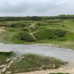 The scarred landscape of Pointe du Hoc.