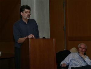 Photo of Carlos López lecture at Mayan Classic