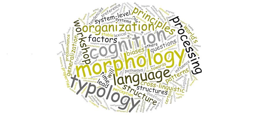 Morphological Typology & Linguistic Cognition - project description wordcloud