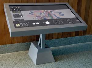 Real-time interactive system, structural steel, multi-touch screen of American Varietal (Atlas).
