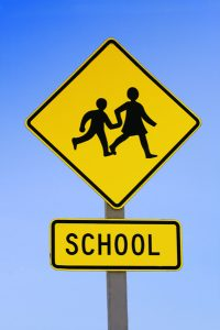 School crossing sign
