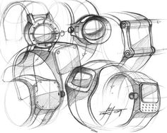great perspective views after I said today that watches are always drawn in orthographic view