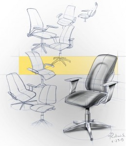 Strong composition of chairs, arranged in a golden ratio type of arc. The yellow bar also intrigues me as while it looks useless, I think it makes the images pop out more.
