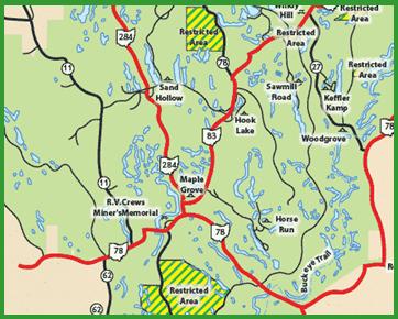Location Map  AEP Recreation Lands Hook Lake