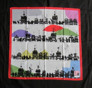 Wrapping Cloth (Furoshiki) 2, With Parade Floats-edited