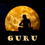 Picture of Meditator in Front of Moon to Symbolize Guru Rating