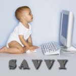 Picture of Baby Using Computer to Symbolize Savvy Rating