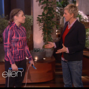 Tori Boggs talking with Ellen