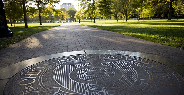 Ohio State University Seal on the Oval