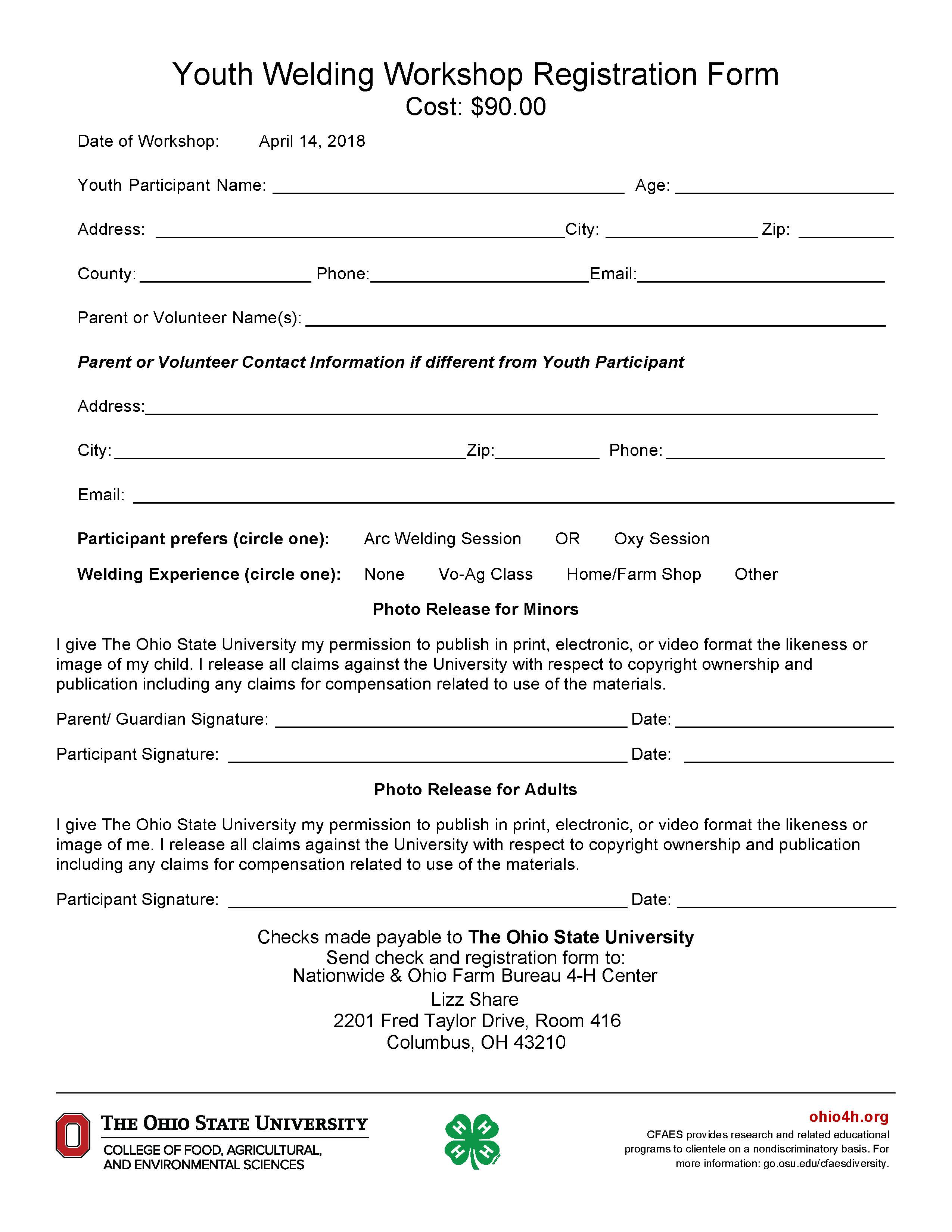 2018 youth welding workshop knox county 4 h registration for this workshop is march 30 and the cost is 90 for more information and the registration form please refer to the flyer below or by altavistaventures Choice Image