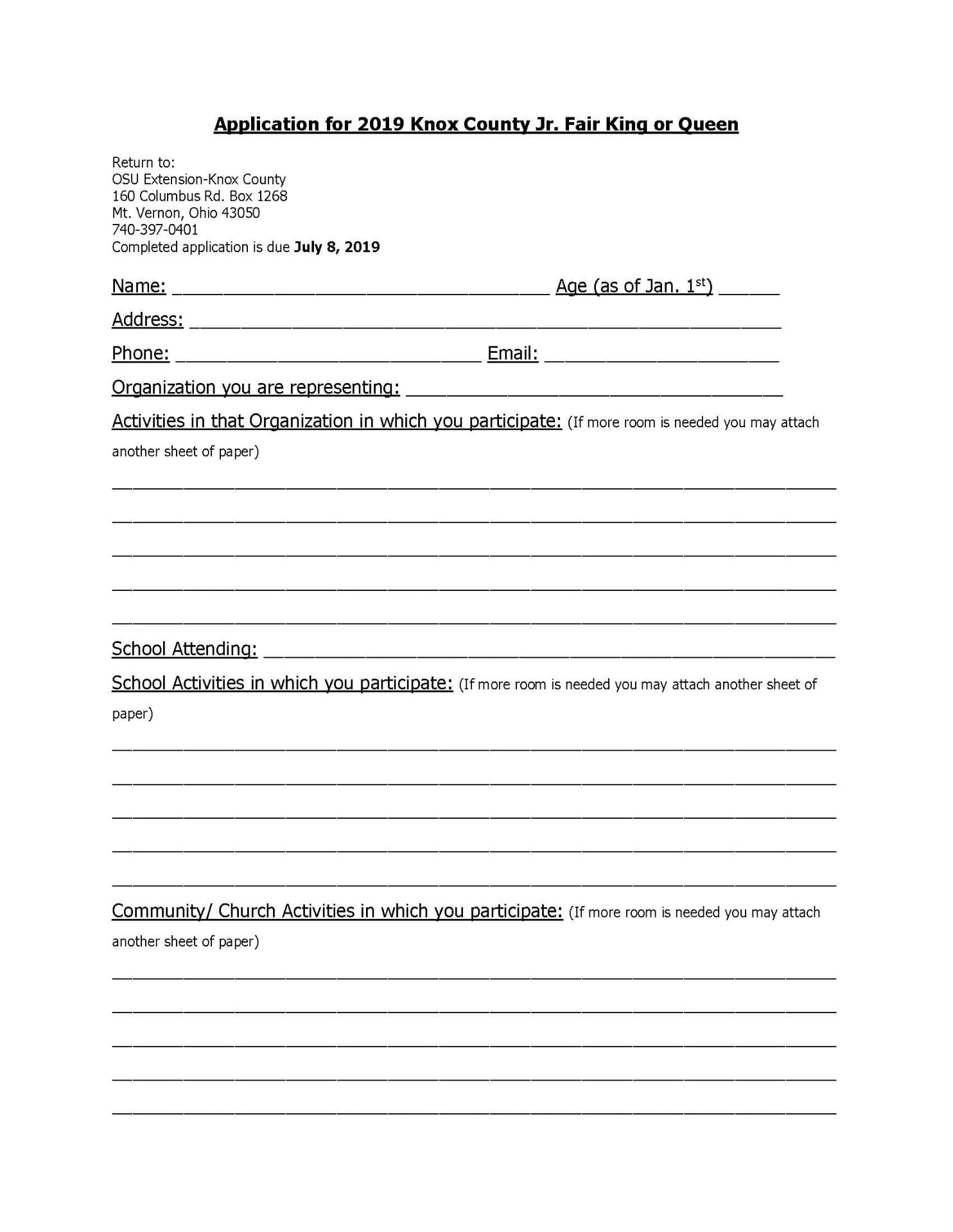 2019 Knox County Junior Fair King & Queen Application | Knox ... Dairy Queen Application Form on baskin-robbins application form, ihop application form, shell gas station application form, chick-fil-a application form, mcdonald's crew application form, safeway application form, the cheesecake factory application form, sizzler application form, mcdonalds job application printable form, taco bell application form, yogurtland application form, target application form, staples application form, cici's pizza application form, mcdonald's application for employment form, printable employment application form, hmshost application form, chipotle application form, foot locker application form, subway application form,