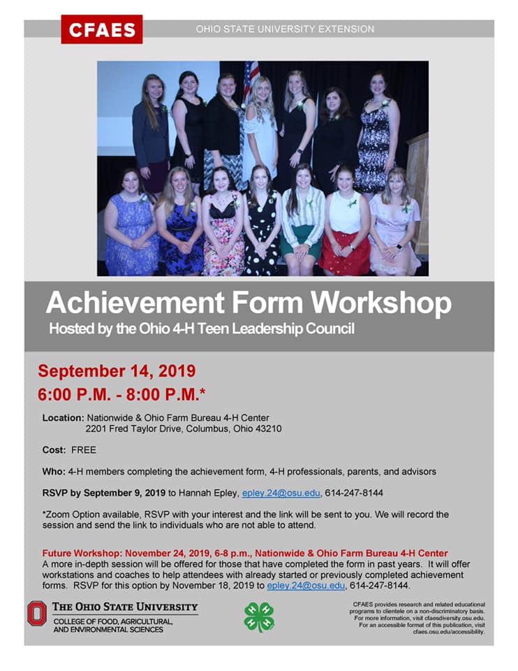 4-H Achievement Form Workshop | OSU Extension Greene County