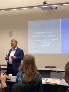 Dr. Kevin Boys, President of Southern State Community College, hosted participants of Leadership Highland and Leadership Clinton at the SSCC Wilmington Campus for the panel discussions.