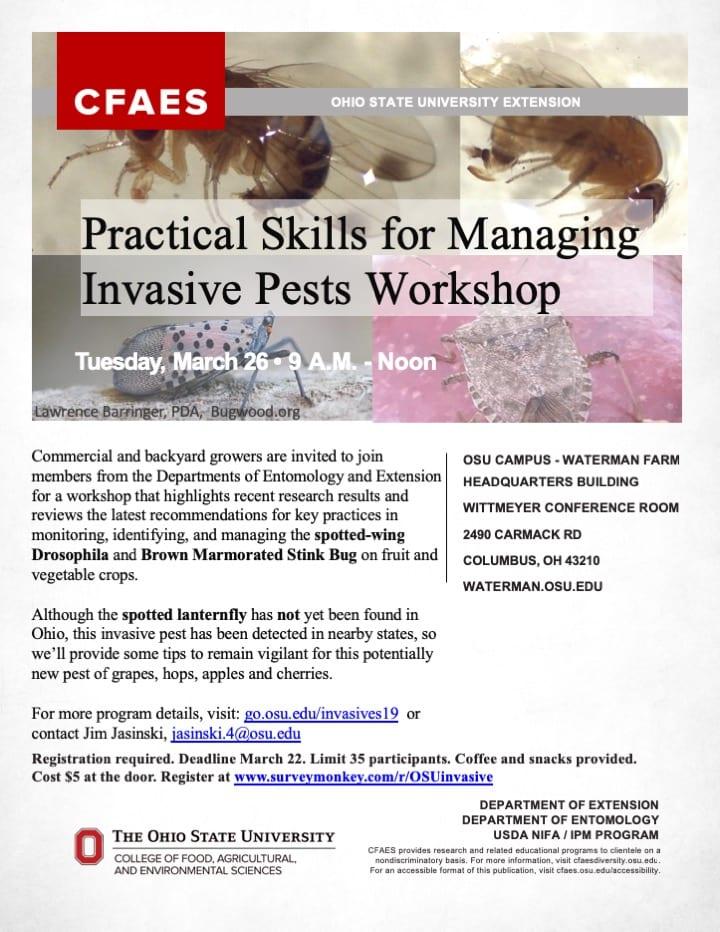 Practical Skills for Managing Invasive Pests Workshop