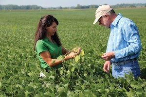 OSU Extension educates CCAs, maximizing the university's impact on millions of acres of farmland statewide. (pictured: Tina Lust and Harrold Watters)