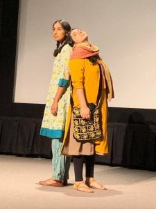 "Image of Zari and Parwana, Protagonists of Alia Bano's ""Parwana: They Bear All the Pain"" performed at the Wexner Center for the Arts at the Ohio State University on Oct. 7 2019"