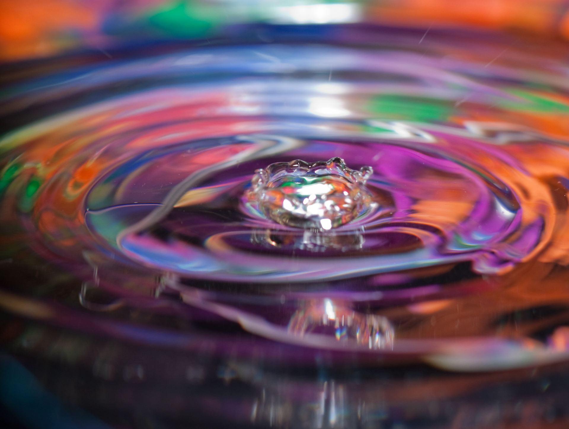 Water ripple in multicolors
