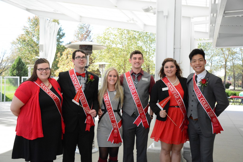 Members of the Ohio State Mansfield homecoming court include Nella Blackford, Jordan Landis, Jordan Morse, Joey Burley, Maris Bucci and Greg Palmerton. Morse and Burley were named queen and king at ceremonies in Columbus.