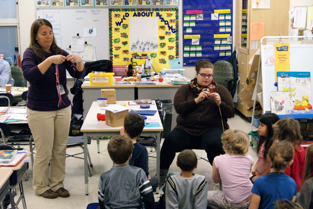 Nella Blackford, an Early Childhood Education major, gets field experience in a second grade classroom in Galion.