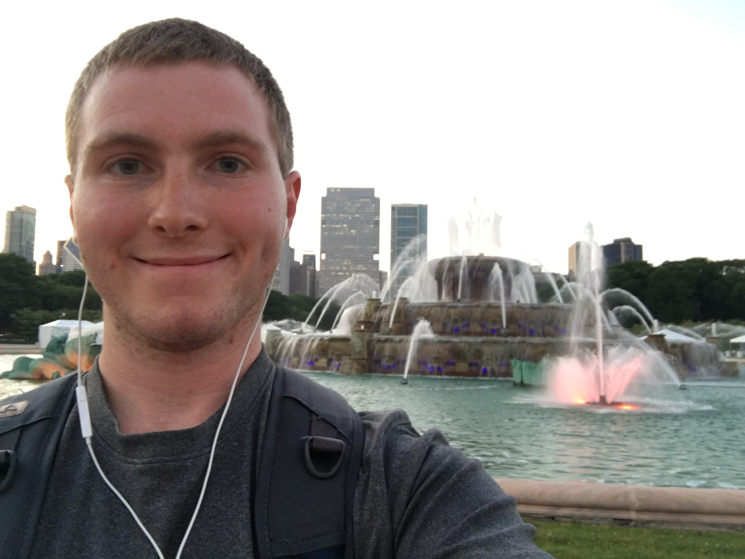 Selfie and Fountain
