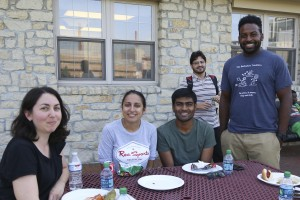 The Biomedical Engineering Graduate Student Association hosts a kick off picnic for the graduate students, faculty, and staff of the Department of Biomedical Engineering at The Ohio State University. Held at the Women's Field House on August 26, 2016. (Laura Peshek/ Ohio State University / Office of Student Life)