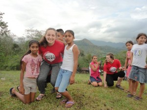 After the health stations, some of our group went to the top of one of the mountains, where some of the kids in the community taught us games and helped us with our Spanish.