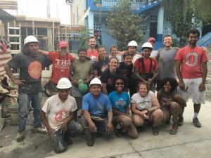 BuckiSERV group with local Guatemalan masons