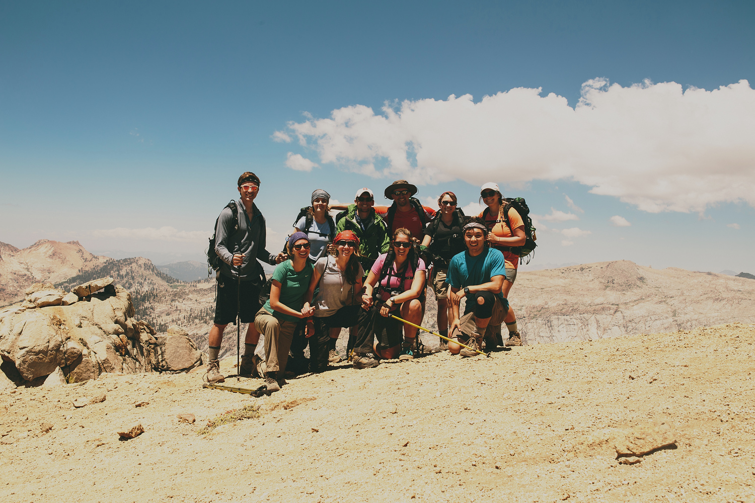 the group after summiting Alta Peak (11207 ft)