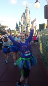 Runners were able to run through the iconic Cinderella Castle in the Magic Kingdom right around mile 5!
