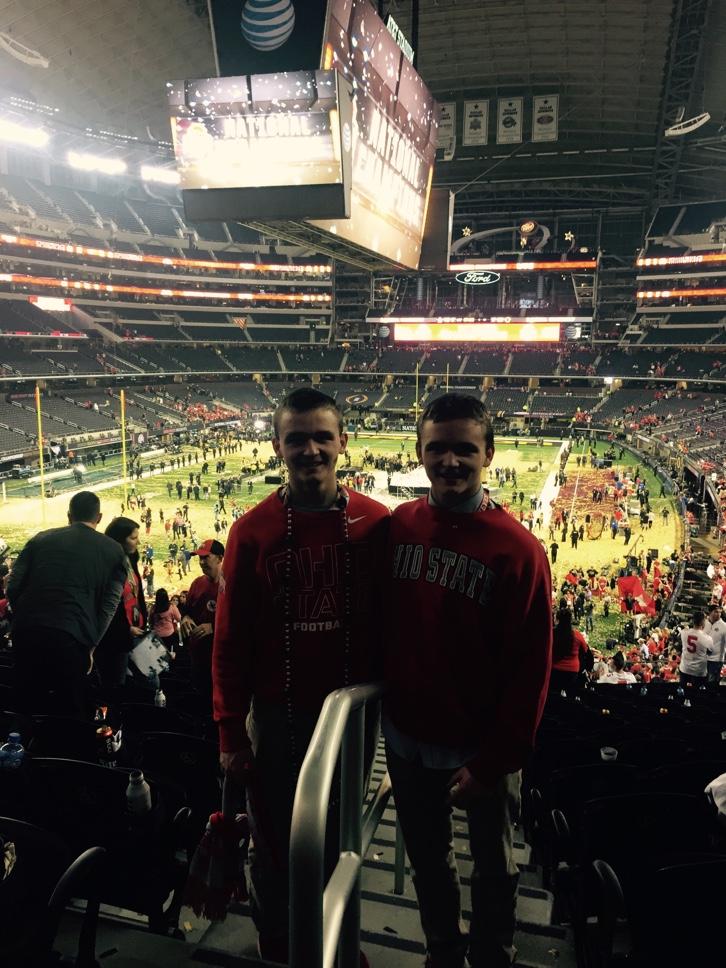 Ryan Vonderhaar and Adam Vonderhaar at the National Championship Game.