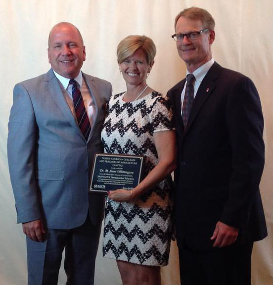 Dr. Susie Whittington is pictured with CFAES assistant deans Dr. Pat Whittington and Dr. Jeff Hattey