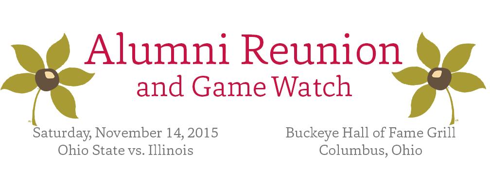Alumni Reunion - Web Header, Top Marquee