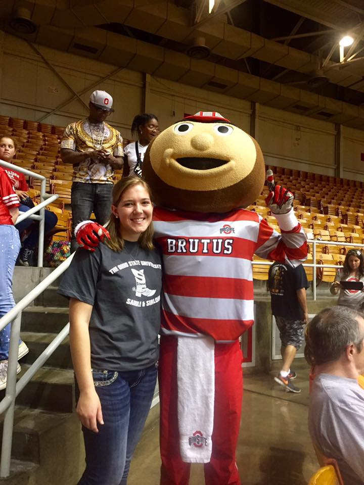 Abby Motter and Brutus Buckeye