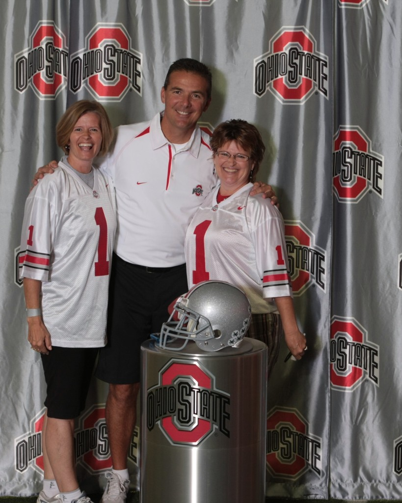 Susie and Kerry with Coach Meyer