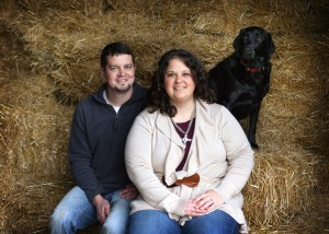 Laura Ringler, husband Joe, and dog Annie