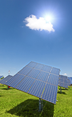 solar panel with sun for GB