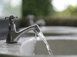 picture of clean water flowing from faucet for GB