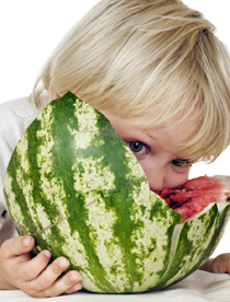 picture of kid eating watermelon for GB
