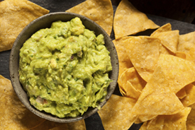 picture of chips and guacamole
