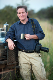 Joel Sartore at a game preserve in South Africa.