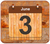 June 3 calendar date