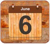 June 6 calendar date