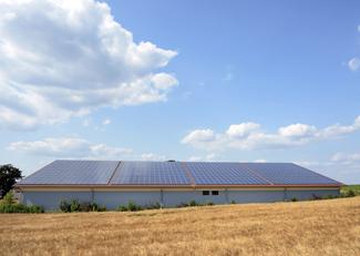 Photo of solar panels on barn 2