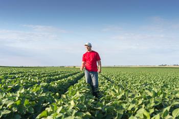 Image of farmer in field