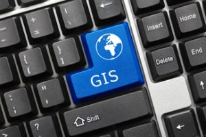 Conceptual keyboard - GIS (blue key)