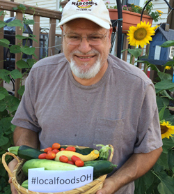 Image of happy grower with local food 2